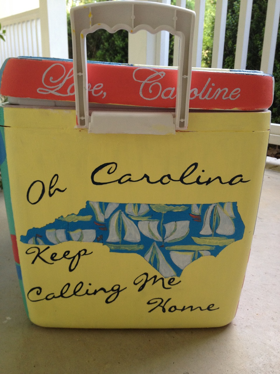 Diy Painted Cooler : Step by incredibly detailed instructions for painting