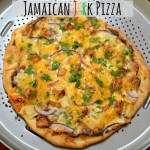 Jamaican Jerk Pizza with Black Bean Base