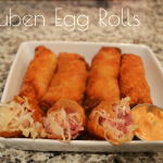 Easy Reuben Egg Rolls