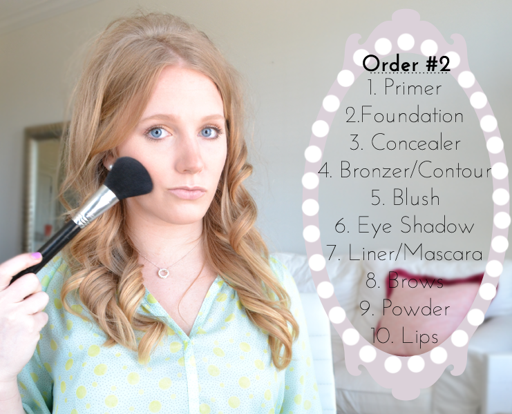 Which Order of Applying Make Up is Better?