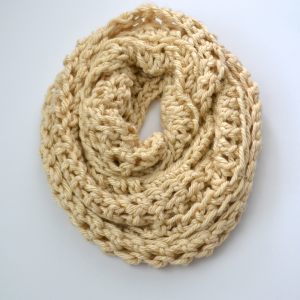 Cream Triple Wrap Infinity Scarf