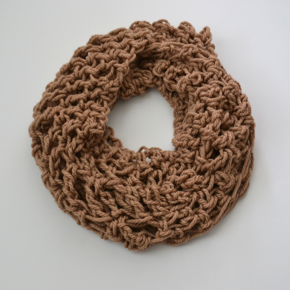 Loose Knit Double Wrap Infinity Scarf