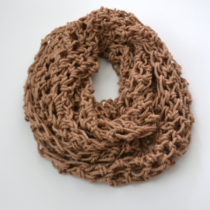 Triple Wrap Tan Infinity Scarf